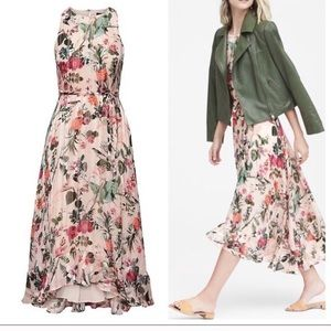 Banana Republic fit and flare maxi dress size 8